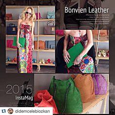 @didemcelebiozkan with @repostapp. ・・・ Bu gün de, Bonvien Leather, Bamboo Park'dayım. Çantalar muhteşem, renkler ondan da harika  ( @bonvienleather )