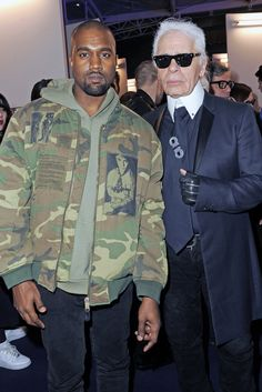 Kanye West and Karl Lagerfeld at the LVMH Prize [Photo by Dominique Maître]