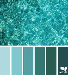 Color sea design seeds on we heart it Paint Color Schemes, Bedroom Color Schemes, Paint Colors, Bedroom Colors, Design Seeds, Teal Colors, Colours, Aqua Color, Sea Colour