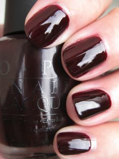 OPI - All A-Bordeaux The Sled! - I think I like this better than Black Cherry Chutney, but not quite as much as We'll Always Have Paris