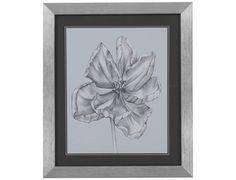 Bassett Mirror  Thoroughly Modern Silvery Blue Tulips IV Wall Art