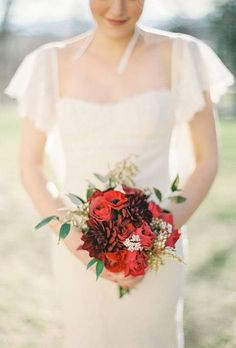 Red Wedding Bouquet Ideas : Brides.com