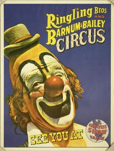 Ringling Bros and Barnum Baily Circus - Clown Face