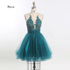 Finove 2017 New Short  A Line Halter Backless Tulle Appliques Formal Prom Gown Sweet Cocktail Dresses Women Homecoming Dresses