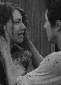 Lauren Cohan as Maggie and Steven Yeun as Glenn, The Walking Dead