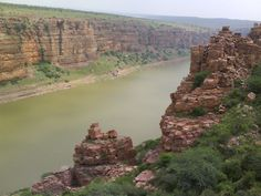 The River Pennar flowing through a rocky gorge near the Gandikota fort in Kadapa, a popular location for movie shootings.