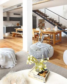 An old alcohol distillery converted into modern loft in Barcelona