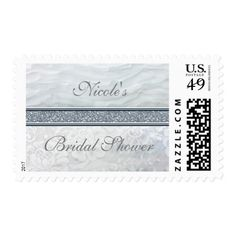 Heavenly White Ruffles & Lace Invitation Postage