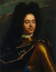 """PETER I Alekseievich """"the Great"""" (1672 - 1725), Tsar & 1st. Emperor of All the Russias / Portrait made in 1706."""