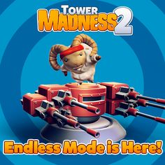 Version 1.2 is available now with Endless Mode!  iOS: https://itunes.apple.com/us/app/towermadness-2/id648977182   Android: https://play.google.com/store/apps/details?id=com.limbic.towermadness2
