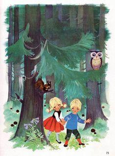 Felicitas Kuhn, Hansel and Gretel Art And Illustration, Illustrations And Posters, Vintage Illustrations, Contemporary Decorative Art, Hansel Y Gretel, Grimm Fairy Tales, Vintage Children's Books, Vintage Art, Fantasy Paintings
