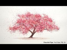 watercoloring a cherry tree - Google Search