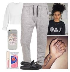 """""""Chillin // Cecelia"""" by melaninmonroee ❤ liked on Polyvore featuring Miss Selfridge, Boulezar, By Terry, Hostess and NIKE"""