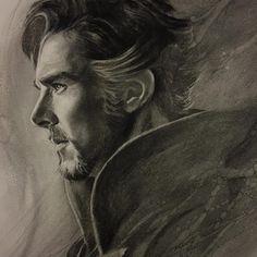 Dr Strange Marvel, Realistic Pencil Drawings, Amazing Drawings, Amazing Art, Marvel Art, Marvel Dc Comics, Marvel Heroes, Benedict Cumberbatch, Doctor Stranger