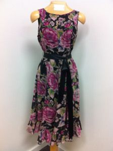 spring and black - dress by Adrianna Papell