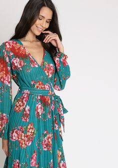Lady Of The Hour Floral Print Wrap Maxi Dress