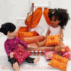 "Moroccan Daybed for 18"" dolls (pattern #1011AP)"