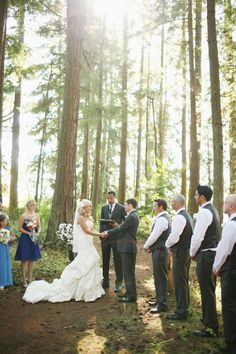 Ridiculously beautiful forest wedding at Kitsap Memorial State Park in Poulsbo, Washington.