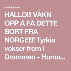 HALLO!!! VÅKN OPP Å FÅ DETTE BORT FRA NORGE!!!! Tyrkia vokser frem i Drammen – Human Rights Service