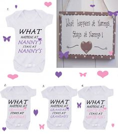 Bodysuit  Godmother Nanny Grandad mummy  any name can be ADDED just message me on Etsy, £5.99