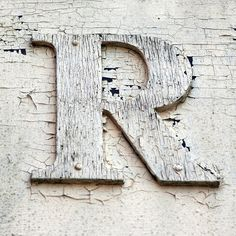 """The letter """"R"""" Wooden Letters, Letters And Numbers, Dear Letter, Quilling Letters, Photo Letters, Reclaimed Wood Projects, Graffiti Alphabet, Letter Stencils, Subway Art"""