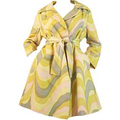1960s Bill Blass Bond Street Mod Coat ❤ liked on Polyvore featuring outerwear, coats, jackets, coats & jackets, dresses, bill blass, mod coat, beige coat and bill blass coat