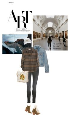 """""""Just Artist Things."""" by browneyez ❤ liked on Polyvore featuring Madewell, Yves Saint Laurent, Kendall + Kylie, Anine Bing and Xirena"""