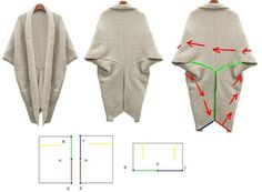 Easy to sew three piece cardigan patroon ook te gebruiken voor haakwerk?