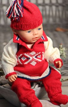 Model 0106D 2014 Winter Olympic Outfit - Sweater, Pants, Cap and Socks Design: Målfri Gausel
