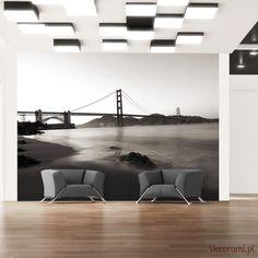 Fototapeta - San Francisco: Most Golden Gate w czerni i bieli Decorami.pl