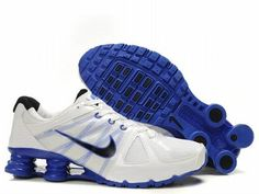 newest cb024 ad456 NSZ01 HOMME Nike Shox NZ Blanc Bleu
