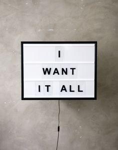 BxxLght I Want It All | Artilleriet | Inredning Göteborg
