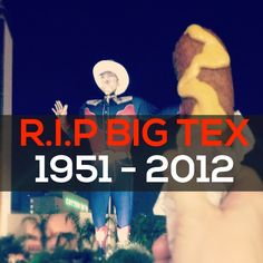 Noah's Friend, Big Tex, Burns Down At The Age of 60.