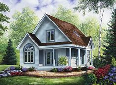 very cozy and quaint, a little small, would make some size modifications but keep the same look overall.