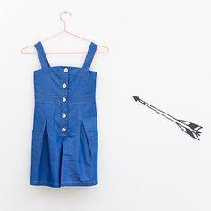 Denim Tencel Culotte Dress