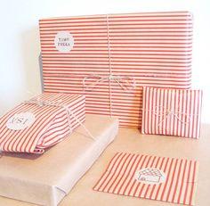 Ideia simples para embrulhar os presentes