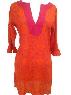 Gracewear Collection - Tunic-Pink/Orange, $56.00 (http://gracewearcollection.com/tunic-pink-orange/)