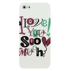Glossy hoesje met tekst I Love You So Much voor de iPhone 5. -