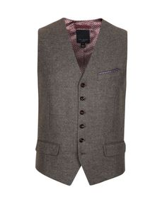 Explore men's vests and waistcoats at Ted Baker. From printed to plain, there's a dapper addition for every occasion. Vest And Bow Tie, Bow Ties, Men's Waistcoat, Wool Vest, Good Looking Men, Mens Suits, Dapper, Ted Baker, How To Look Better