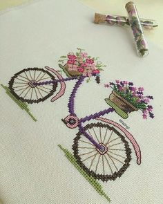This Pin was discovered by Ayş Tiny Cross Stitch, Cross Stitch Heart, Cross Stitch Borders, Cross Stitch Samplers, Cross Stitch Flowers, Cross Stitch Designs, Cross Stitching, Cross Stitch Embroidery, Hand Embroidery
