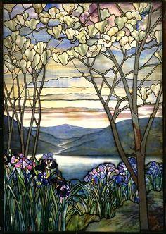 Stained glass window, Metropolitan Museum, New York