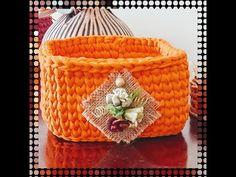 Corbeille crochet - YouTube Crochet Video, Crochet Diy, Filet Crochet, Make It Yourself, Knitting, Spaghetti, Facebook, Instagram, Strands