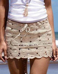 Crochet Skirt Pattern, Crochet Skirts, Knit Skirt, Crochet Clothes, Crochet Patterns, Skirt Patterns, Coat Patterns, Blouse Patterns, Sewing Patterns