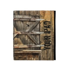 iPad case folio by Joanne Coyle  rustic style