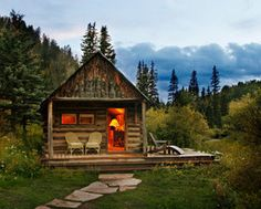 dunton hot springs colorado.  12 cabins...outdoor rain showers, ready to light fireplaces, horseback ride, hike, hot springs...
