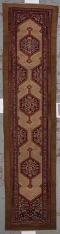 Malayer runner  Central Persia,  circa 1900  size approximately 3ft. 5in. x 14ft. 8in.