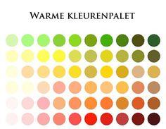 Warme kleurenpalet