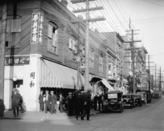 Vancouver, BC,The northeast corner of Columbia and Pender in 1929.