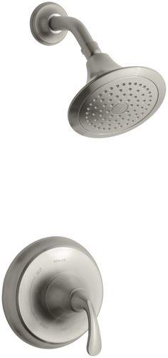 KOHLER K-T10276-4E-BN Forté Sculpted Rite-Temp Pressure-Balancing Shower Trim Set, Valve Not Included, Vibrant Brushed Nickel - Bathroom Sink Faucets - Amazon.com
