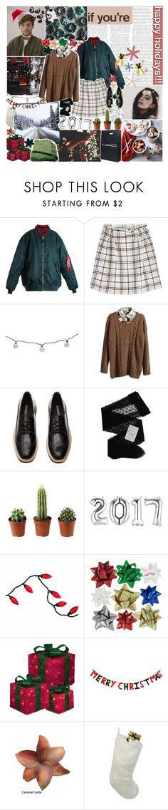 """""""don't come home for christmas; ❤️"""" by sadtrashqueen ❤ liked on Polyvore featuring Vetements, Carven, Threshold, Retrò, Gerbe, CO, Clips, Helen Moore and Woven Workz"""